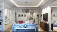 Silver Living Room Wonderland in Kiev  Living Room Ideas