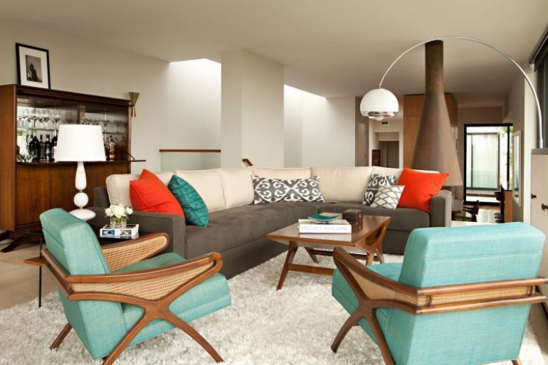 mid century modern living room red black and cream ideas 10 inspiring designs