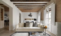 Modern Living Room with Contemporary Lighting in Medieval ...