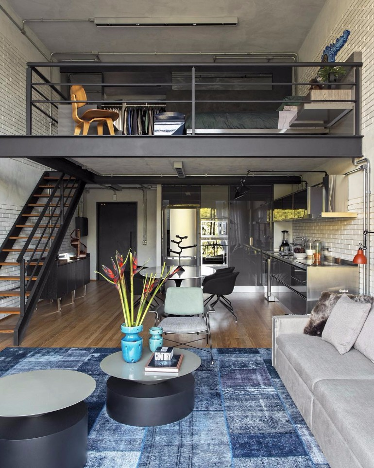 10 LoftStyle Living Room Design Ideas