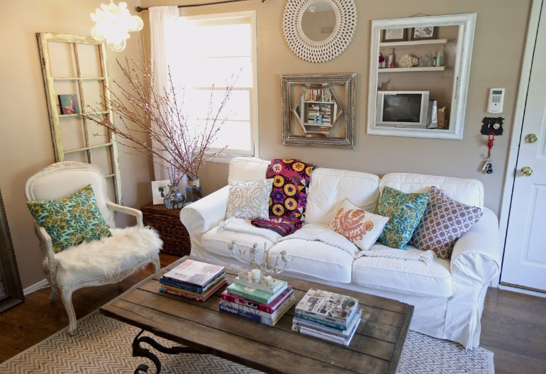 shabby chic small living room ideas modern lighting with a touch of romance