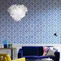 Living Room Inspiration: Living Room Pattern Wallpaper Is ...