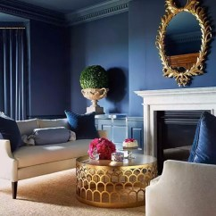 Blue Walls Living Room Decor For Small Apartments Modern With Navy Ideas