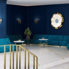 Blue Modern Living Room Decor Ideas For Small Apartments With Navy Walls