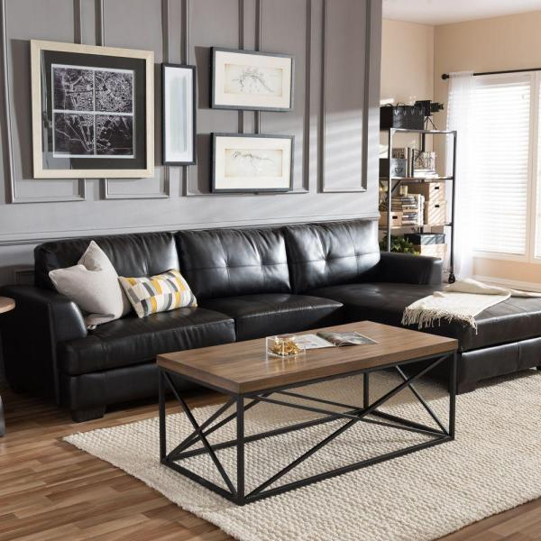 leather living room with sectional ideas 5 Black Leather Sofas, Or 'We Found What Your Living Room