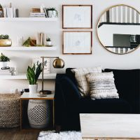 How to Use Living Room Wall Mirrors the Right Way  Living ...