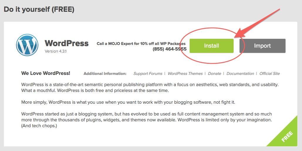 start-WordPress-install