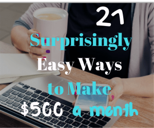 easy ways to make 500 a month