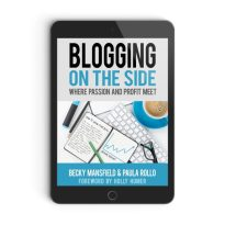 Blogging on the side book. Learn how to start a profitable blog.