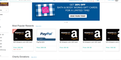 earn Amazon and Paypal gift cards with Swagbucks
