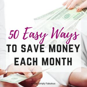 50 Super Easy Ways to Save Money