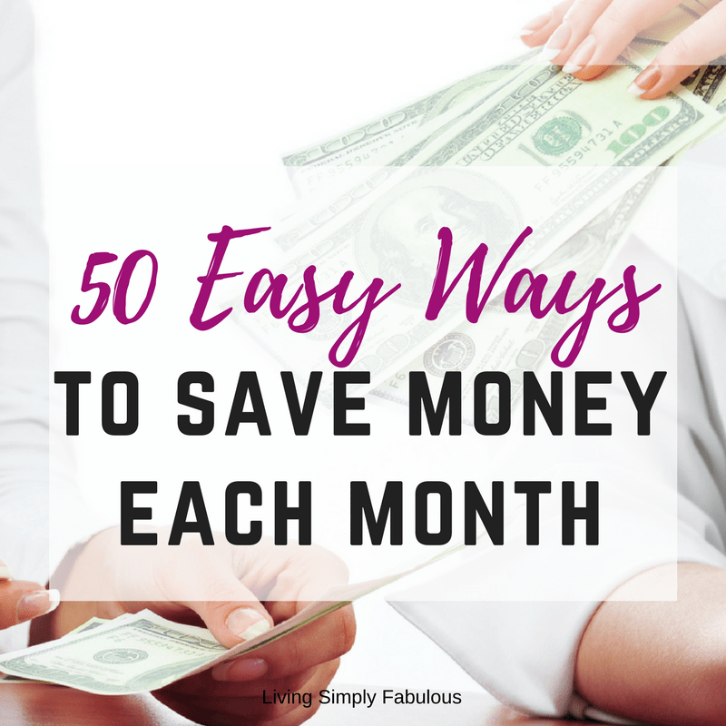 50 Super Easy Ways to Save Money