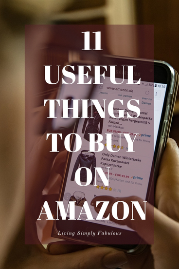 Do you love Amazon as much as I do? If you enjoy the vast selection and the two day delivery, you can appreciate this online giant. Here are a few of the most useful things to buy on Amazon you may enjoy.