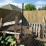 chicken compost fence