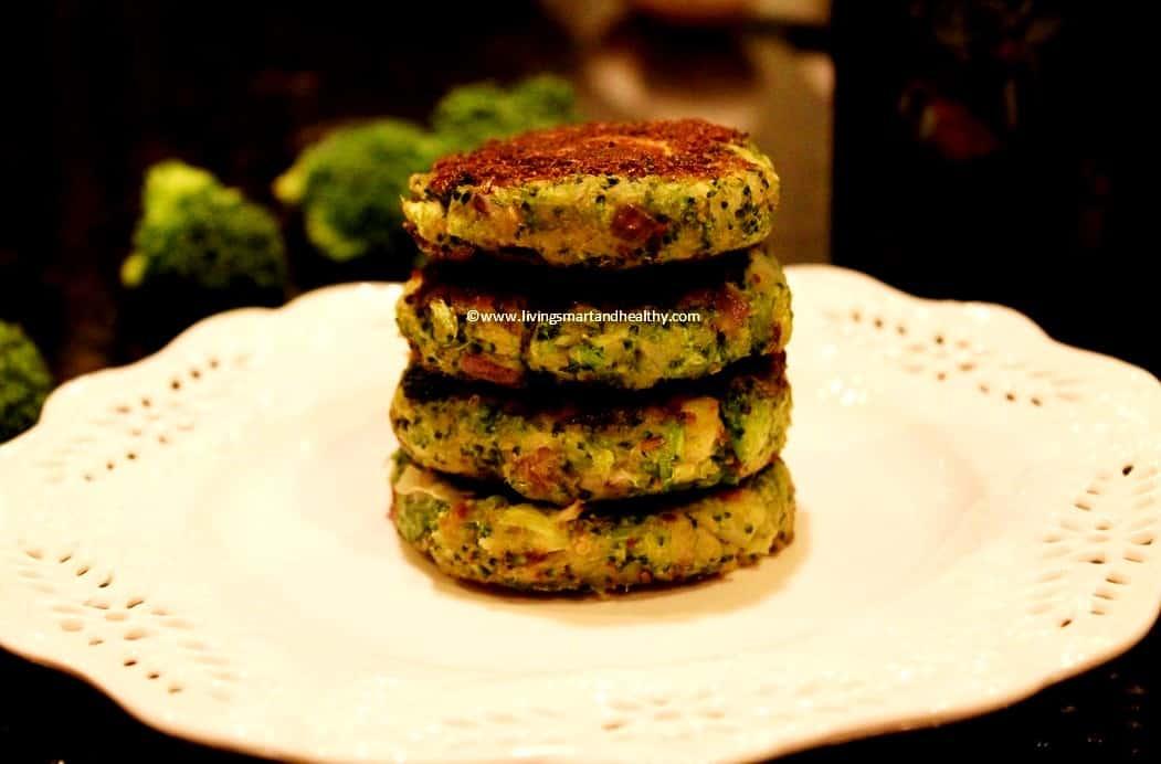 Broccoli Potato Patties / Broccoli Aloo Tikki