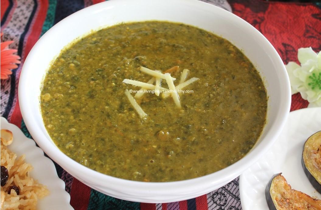 Instant Pot Spinach Dal (lentil)/ Sindhi Sai Bhaji