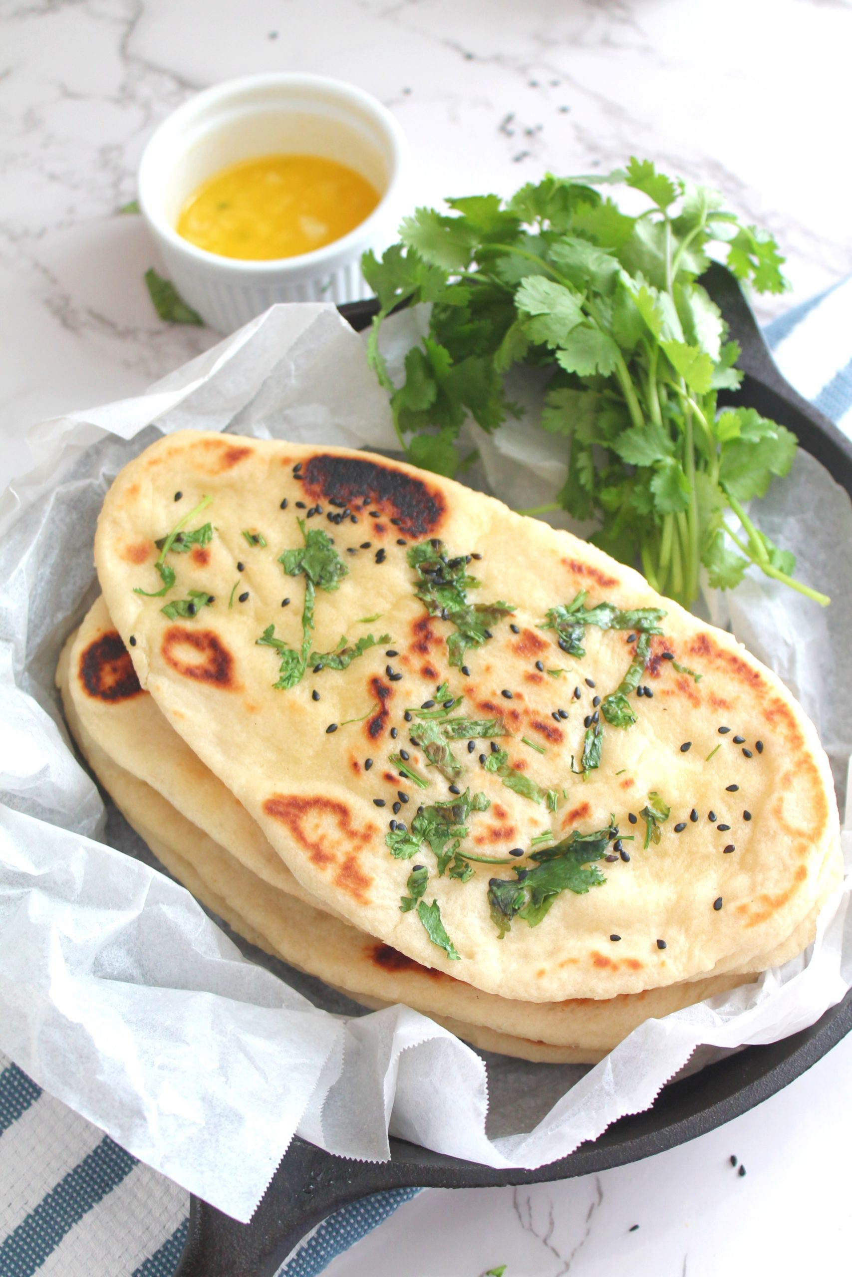 Homemade Naan Bread Garlic Naan