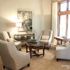 4 Chairs In Living Room Rooms With Brown Leather Couch Before After A Light Bright Sitting Solutions Blog To Surround And Kept The Smaller One By Window New Console Table Larger Art Draperies Accessories Were Added Give This