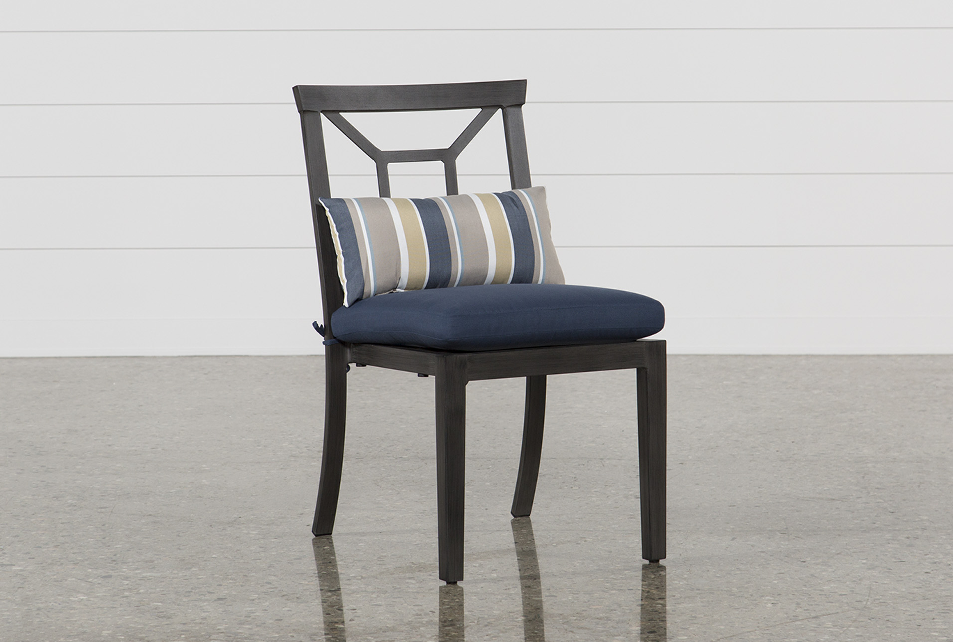 Living Spaces Dining Chairs Outdoor Martinique Navy Dining Chair Living Spaces