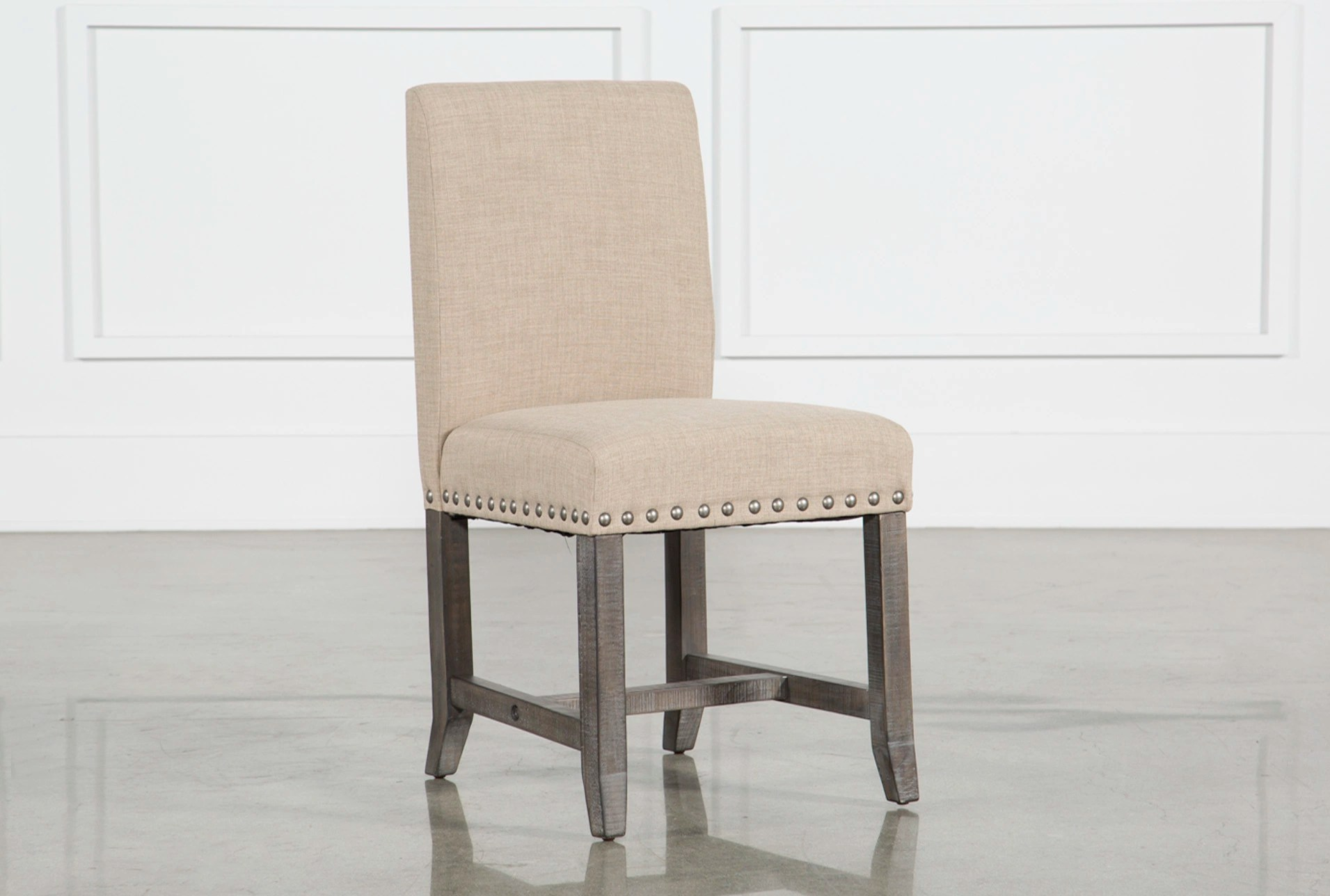 Grey Upholstered Chair Jaxon Grey Upholstered Side Chair Living Spaces