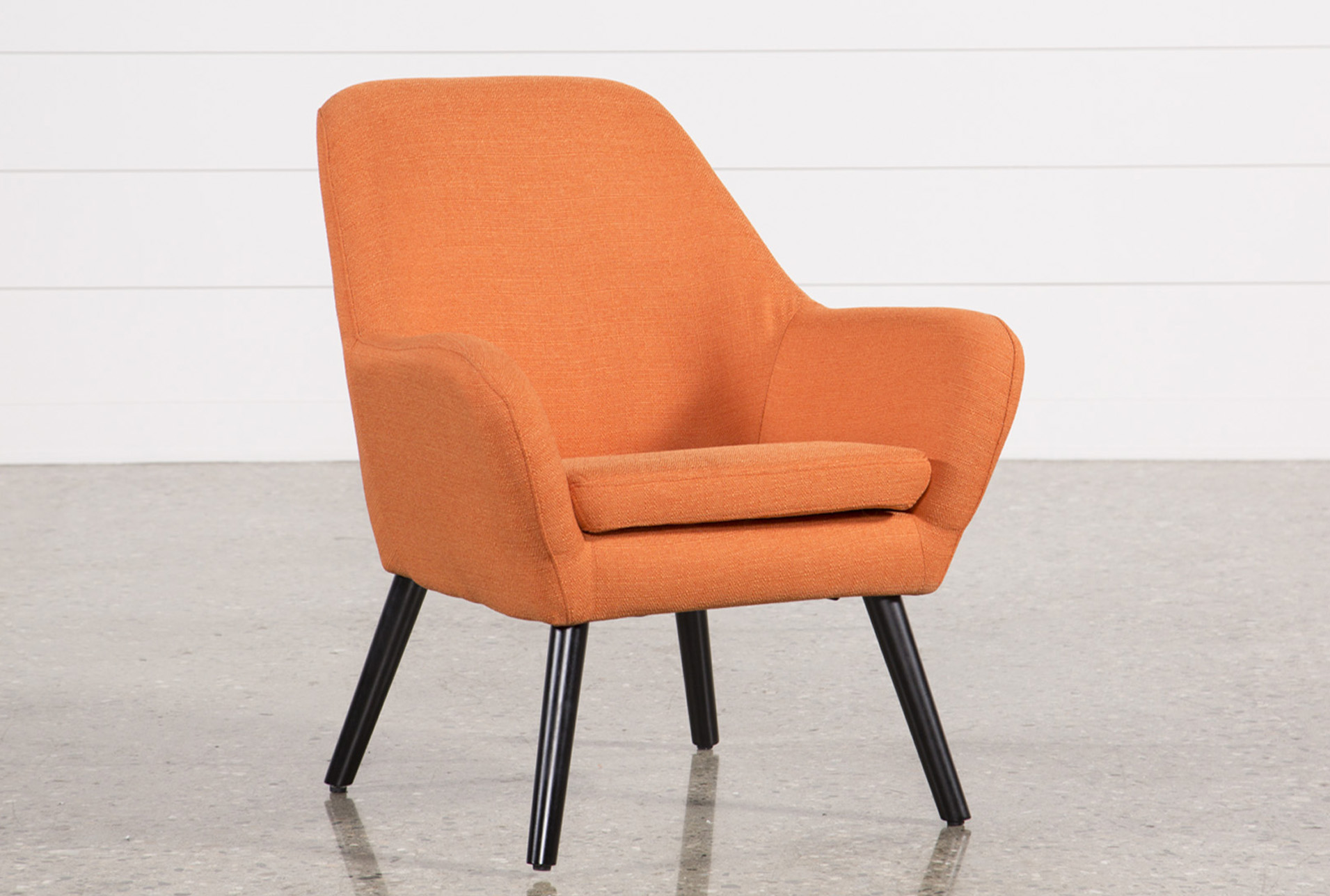 Modern Orange Chair Mercury Mandarin Accent Chair Living Spaces