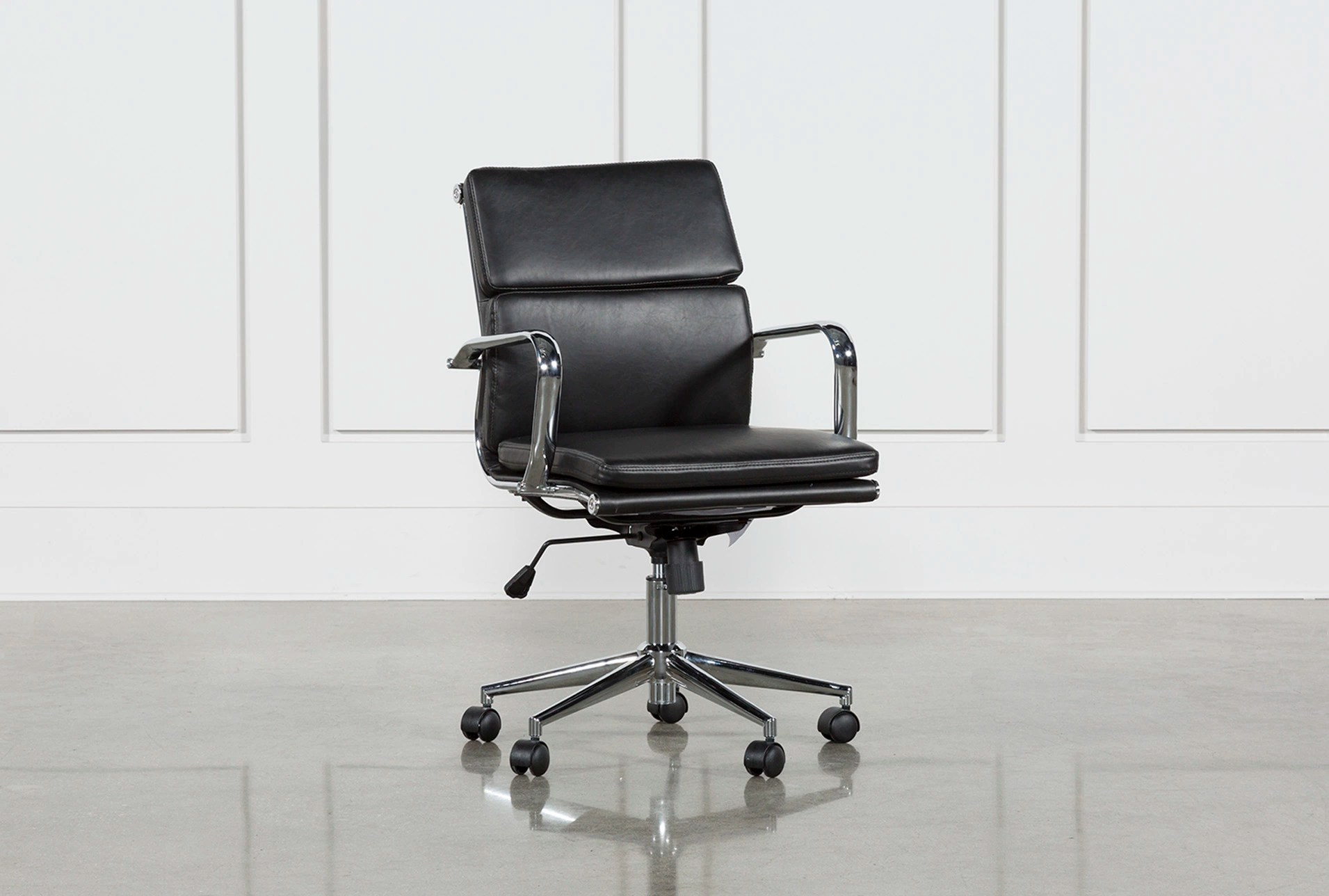 Low Back Office Chair Moby Black Low Back Office Chair