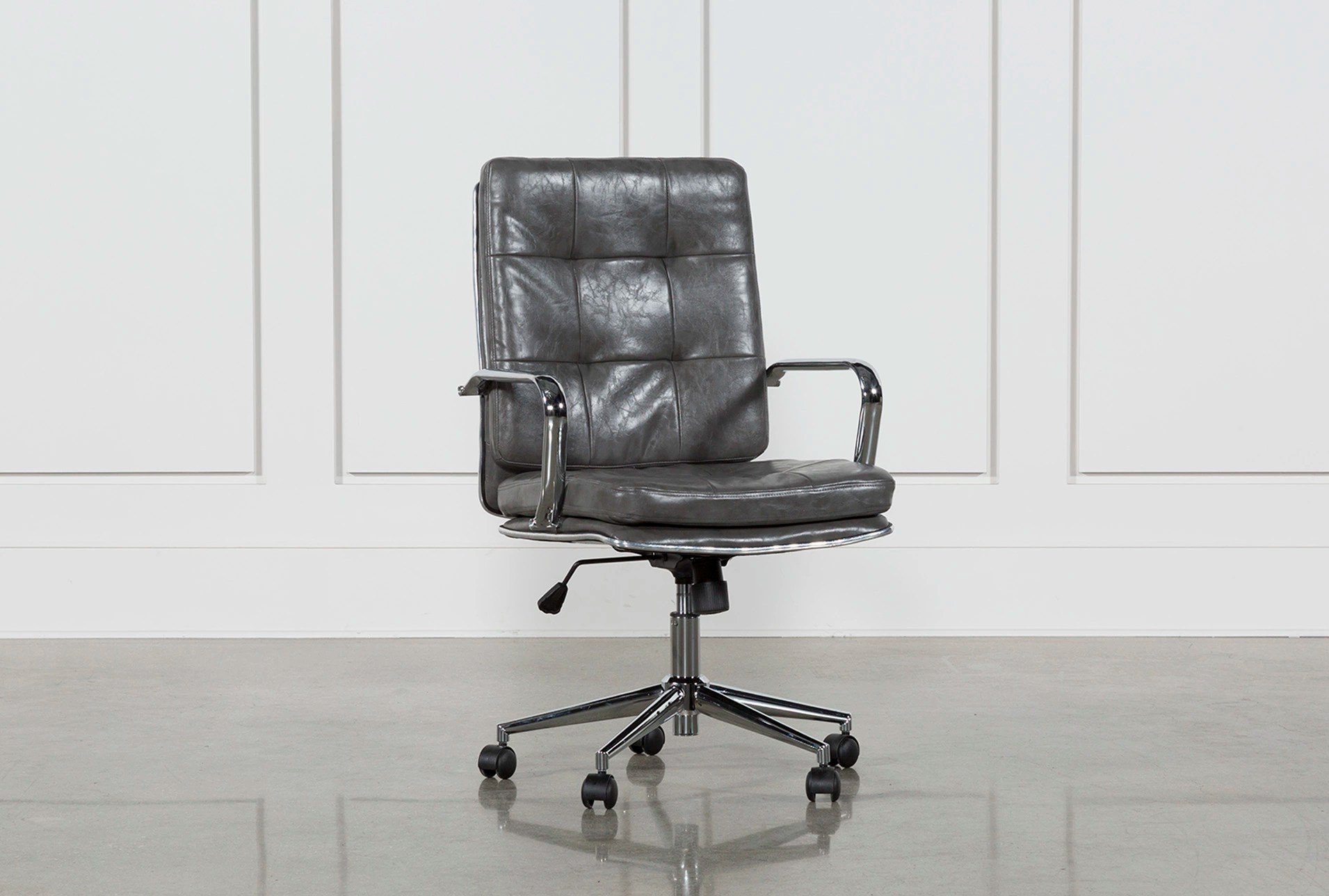 Tufted Leather Office Chair Norton Tufted Office Chair