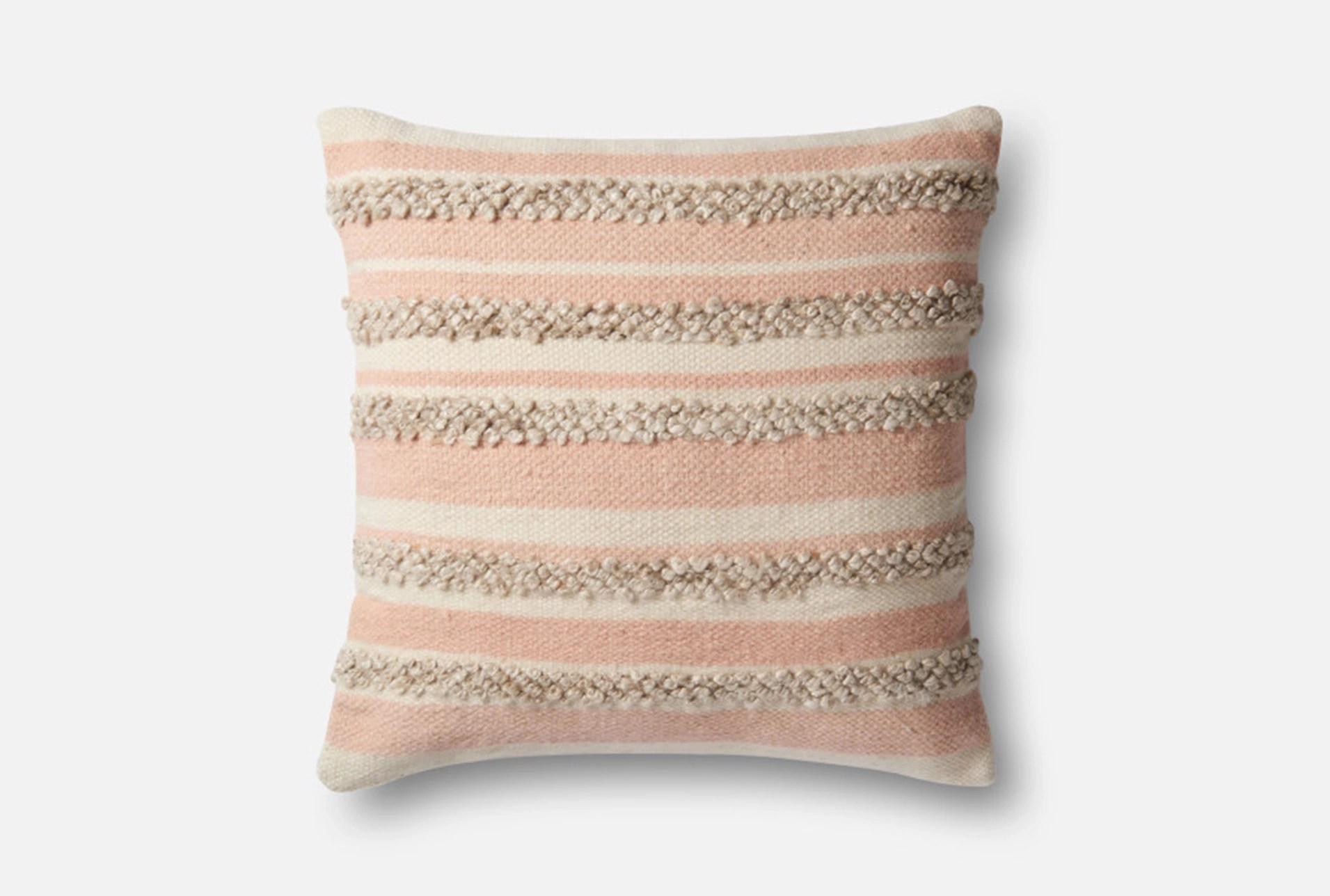 Accent Pillow-Magnolia Home Textured Stripes Pink/Ivory