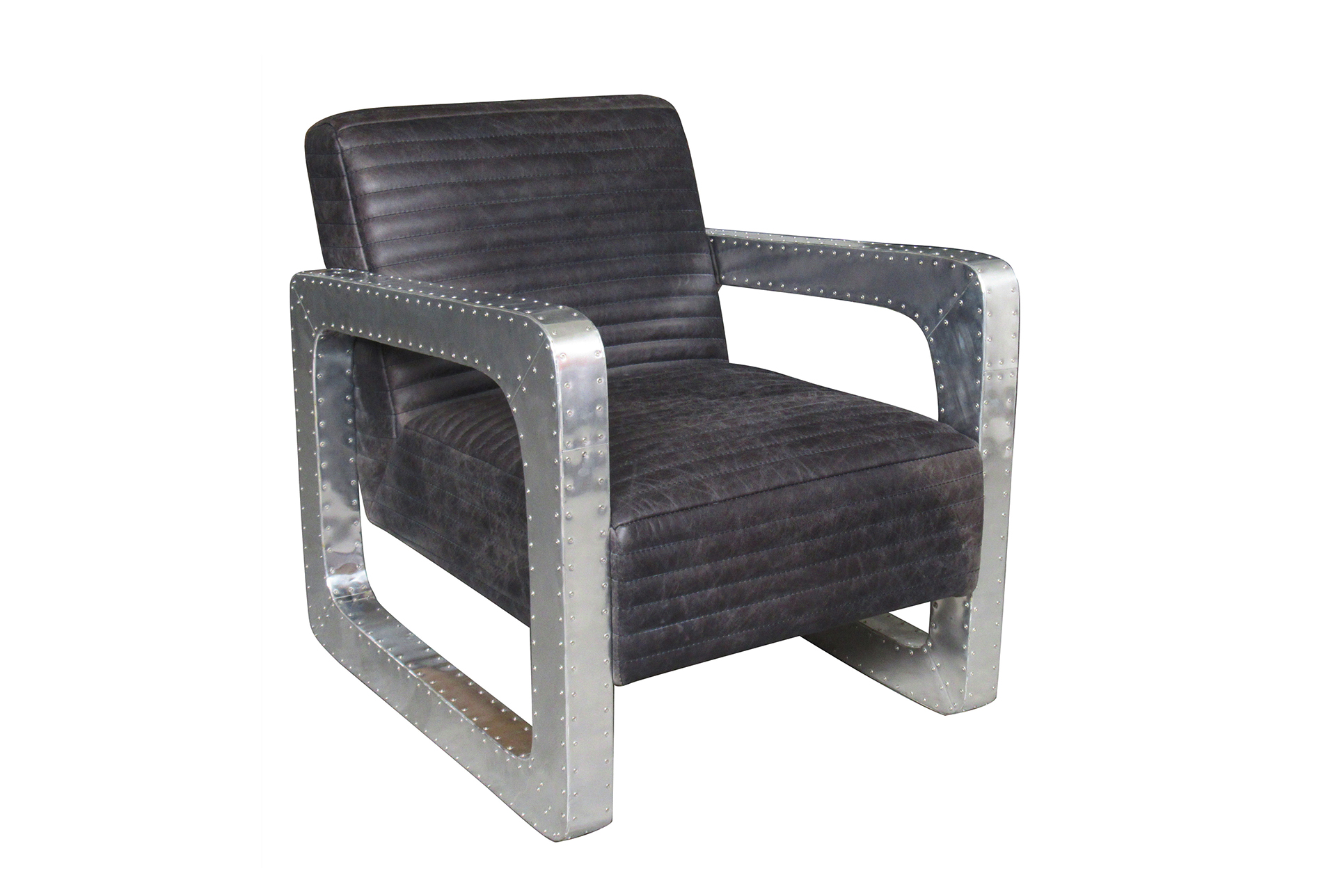 Metal And Leather Chair Black Leather Metal Arm Club Chair Living Spaces