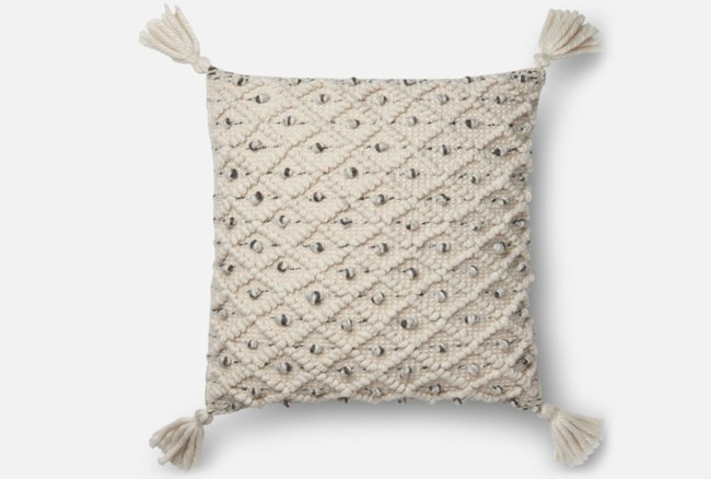 Accent Pillow-Magnolia Home Blue/Ivory Diamond Ikat 22X22