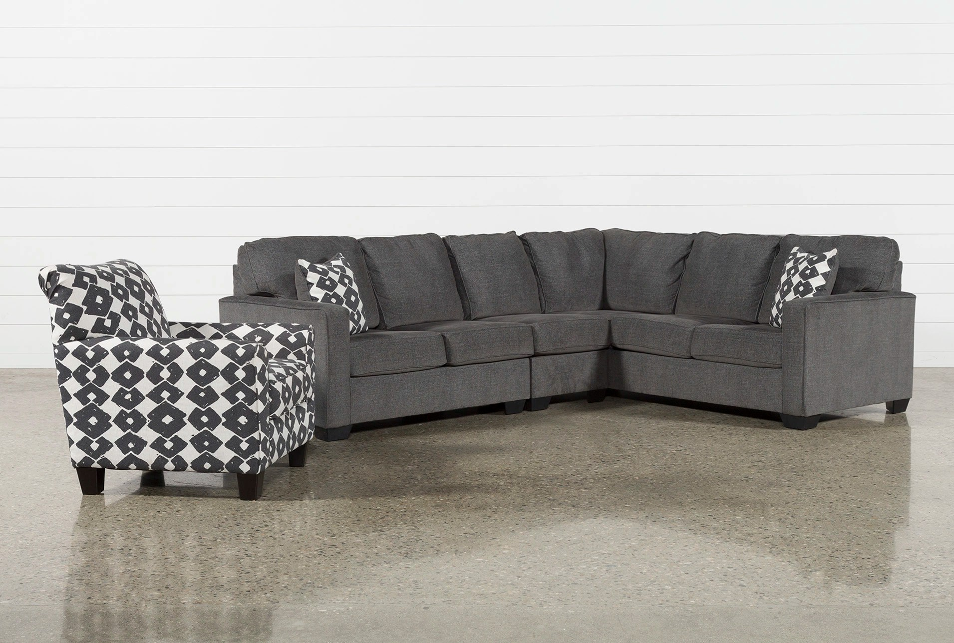 Accent Chair Living Room Turdur 3 Piece Laf Sectional With Accent Chair