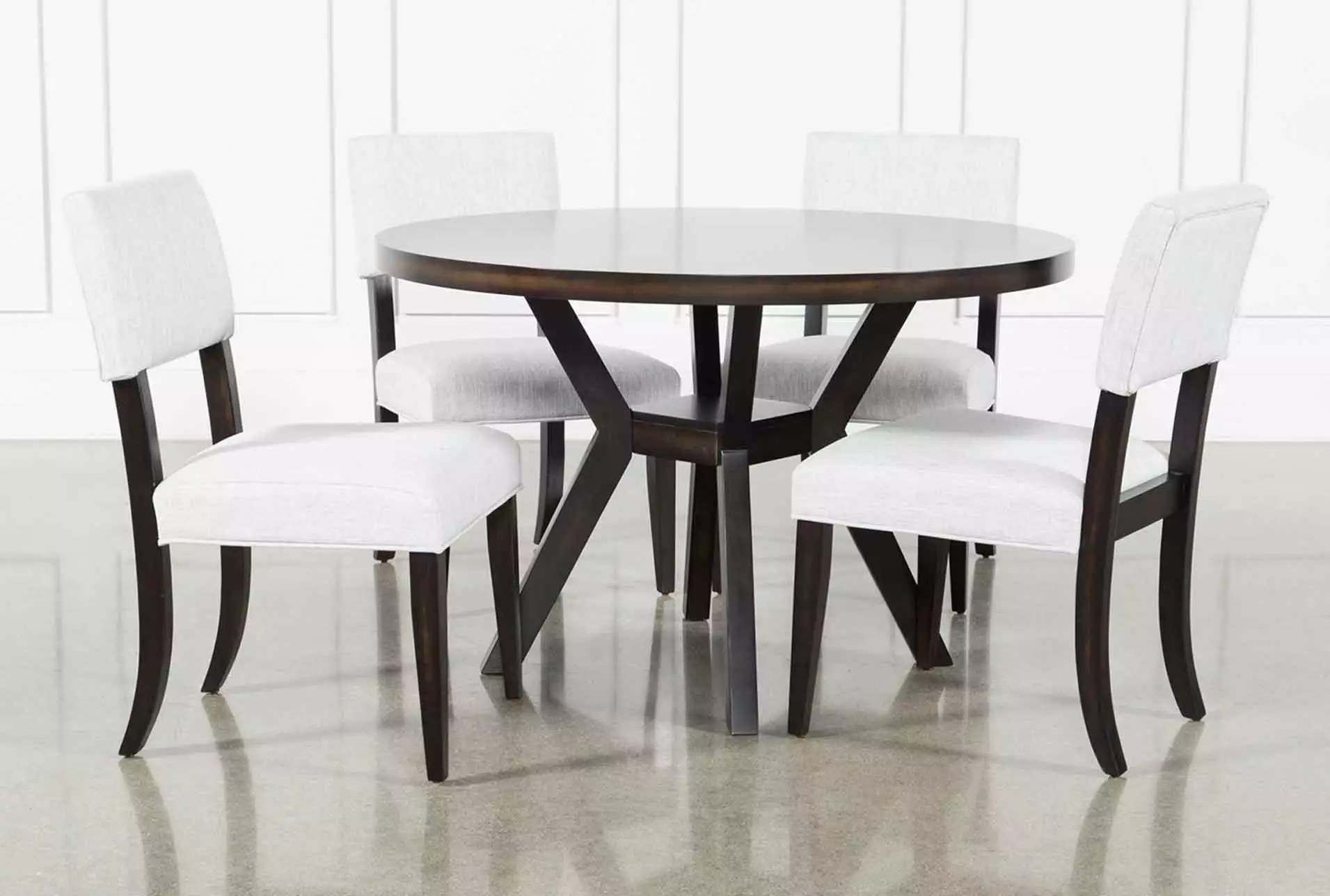 Black Dining Room Table And Chairs Macie Black 5 Piece Dining Set