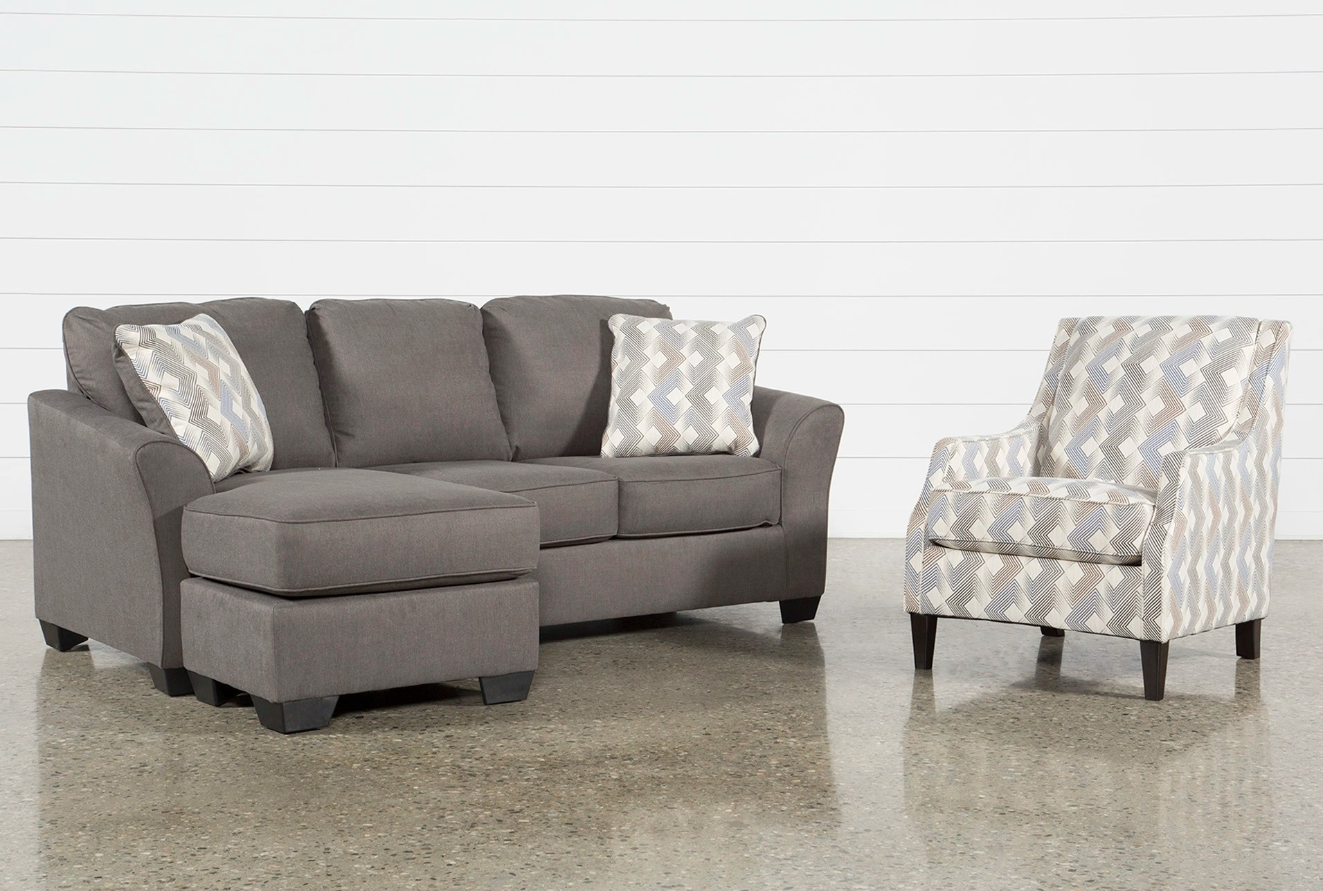 Accent Chair Living Room Tucker 2 Piece Living Room Set With Queen Sleeper And Accent Chair