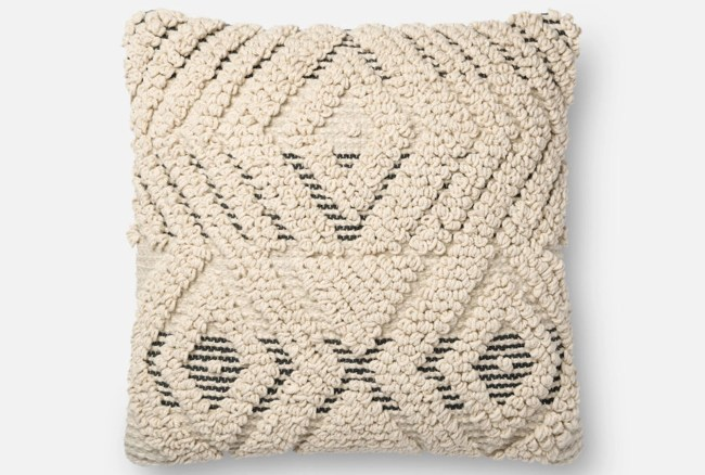 Accent Pillow-Magnolia Home Boucle Overlay Natural/Black