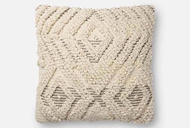 Accent Pillow-Magnolia Home Boucle Overlay Natural/Grey