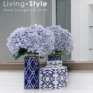 ไฮเดรนเยีย สีฟ้า แจกันเซรามิก ดอกไฮเดรนเยีย %%sep%% Livingstyle ตกแต่งบ้าน แจกันดอกไม้ ดอกไม้ปลอม ต้นไม้ปลอม ดอกไม้ประดิษฐ์ ต้นไม้ประดิษฐ์ แต่งบ้าน