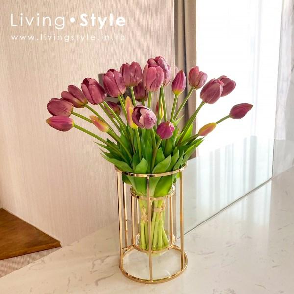 ดอกทิวลิป ทิวลิป แจกัน ทิวลิป สีม่วง %%sep%% Livingstyle ตกแต่งบ้าน แจกันดอกไม้ ดอกไม้ปลอม ต้นไม้ปลอม ดอกไม้ประดิษฐ์ ต้นไม้ประดิษฐ์ สวนแนวตั้ง