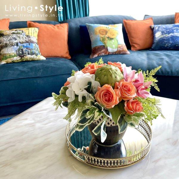 ดอกไม้ปลอม โซฟา แต่งห้องรับแขก %%sep%% ตกแต่งบ้าน Livingstyle ดอกไม้ปลอม ต้นไม้ปลอม ดอกไม้ประดิษฐ์ ต้นไม้ประดิษฐ์ ตกแต่งบ้าน สวนแนวตั้ง สวนหย่อม