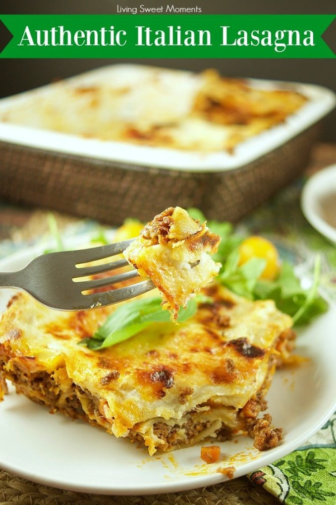 Authentic Italian Lasagna Recipe - Living Sweet Moments
