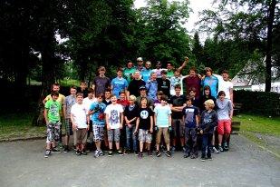 Erstes Jugendcamp 2012 in Winterberg. Der Henrik Tafel genießt den Tag im Krankenhaus