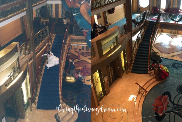 Disney Wonder Staircase Before and After