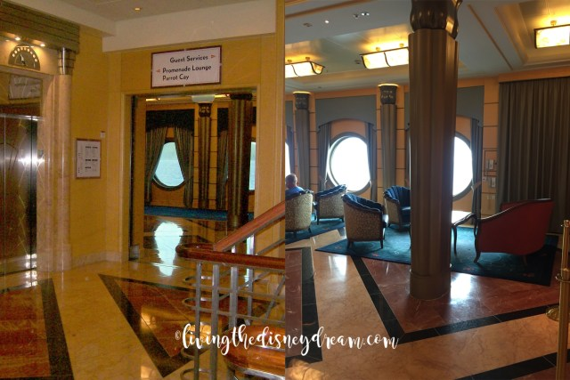 Disney Wonder Lobby Before and After
