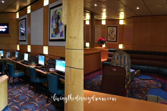 Disney Wonder Internet Cafe to Toddler Play Area