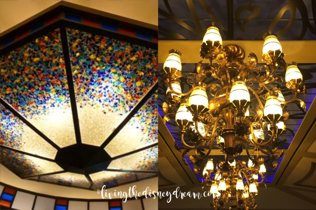 Disney Wonder Parrot Cay Chandelier to Tiana's Place Chandelier