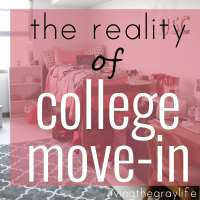 College Move-In: The Reality
