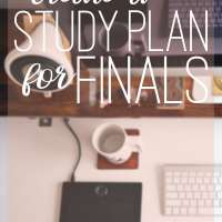 The Perfect Study Plan for Finals Week