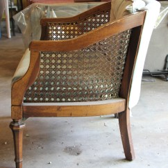 Mid Century Modern Cane Barrel Chairs Beige Dining Thrift Finds From The Dungeon