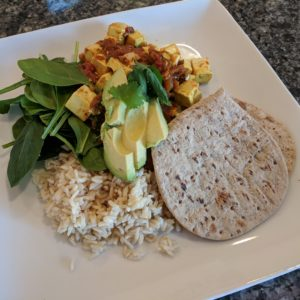 plant-based vegan recipe - tofu masala