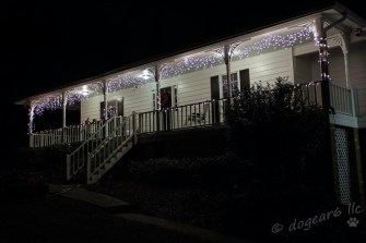 My daughter's house, decorated for Christmas.