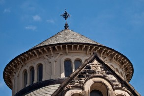 Round roof of Croft Chapter House, U of T.